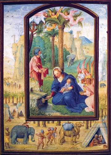 Rest on the Flight to Egypt in the Hours Book of King Emmanuel I