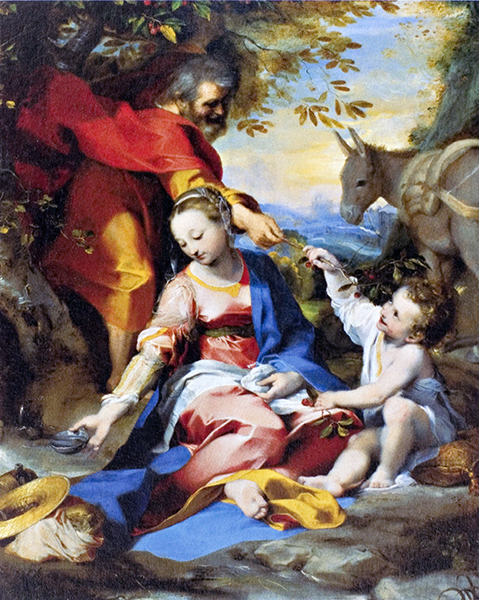 Rest on the Flight to Egypt (Our Lady of the Cherries)