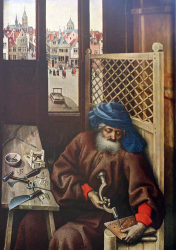 Merode Altarpiece (right panel)