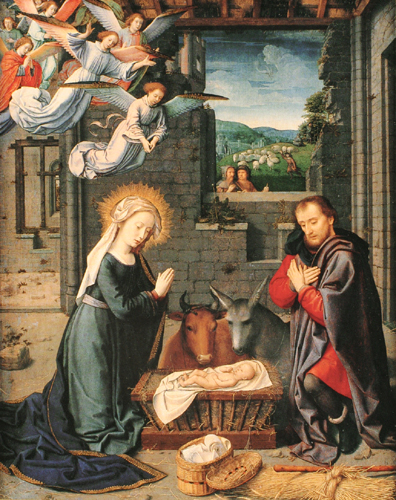 The Nativity with Donors and Sts. Jerome and Leonard