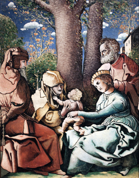 Holy Family with Saints Joachim and Anne