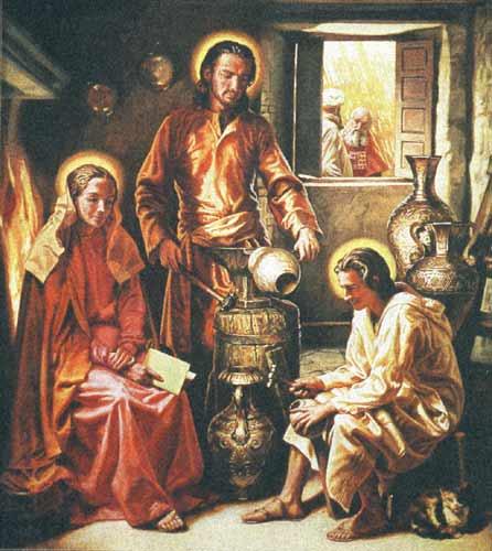 La Santa Famiglia a Nazareth