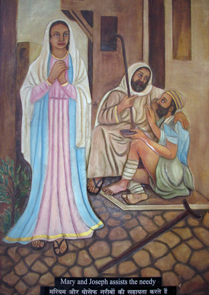 Mary and Joseph Assist the Needy