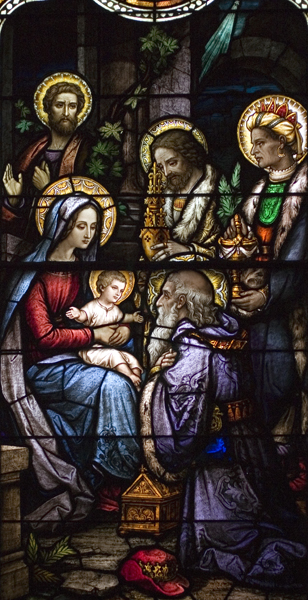 Life of St. Joseph, Window 4: The Adoration by the Three Kings