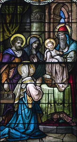 Life of St. Joseph, Window 5: The Offering in the Temple
