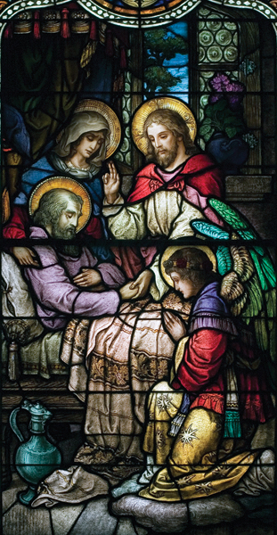 Life of St. Joseph, Window 10: His Death