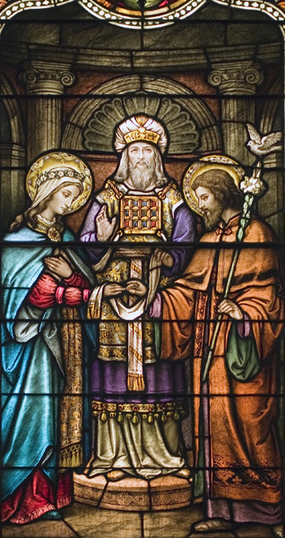 Life of St. Joseph, Window 2: The Betrothal