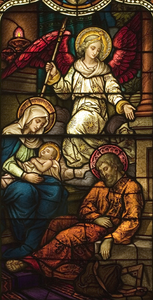 Life of St. Joseph, Window 6: Angel Warns Joseph in a Dream