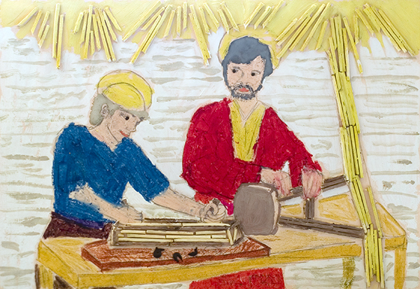 St. Joseph and Jesus in the Workshop