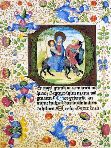 Flight to Egypt in Darmstadt Prayerbook