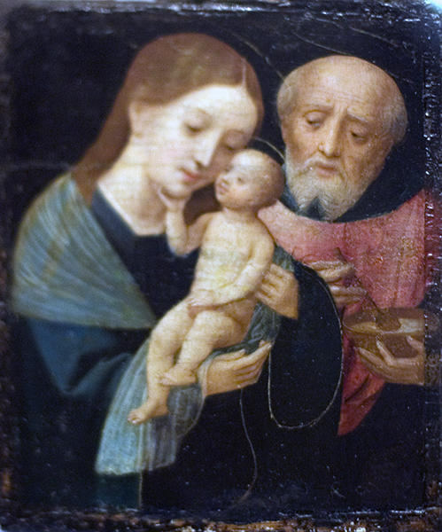 Holy Family with St. Joseph Holding Bowl