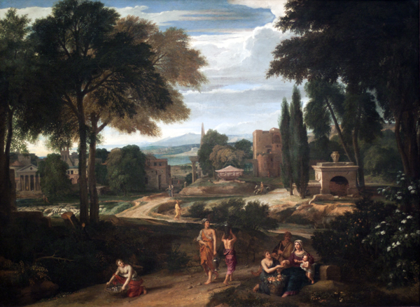 Landscape With Holy Family in Egypt