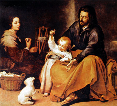 Holy Family with Dog & Bird