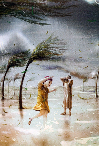 Jesus and Joseph in a Storm
