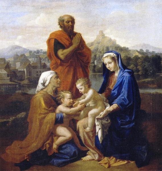 The Holy Family with Sts. John and Elizabeth and St. Joseph Praying