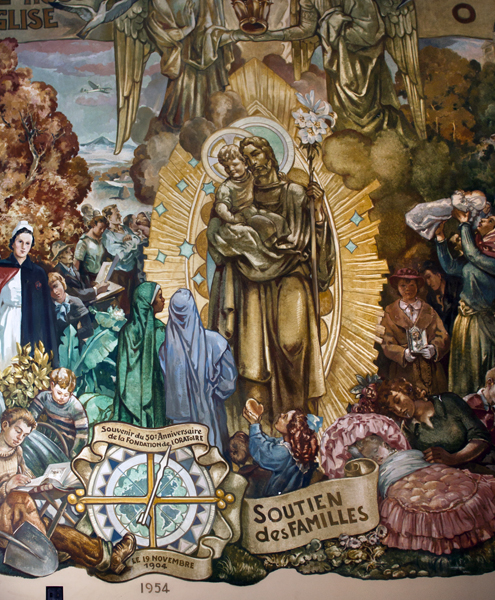 St. Joseph Oratory 50th Anniversary Mural, Patron of Church, Families, Workers