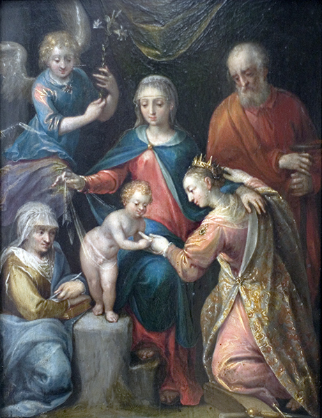 Mystical Marriage of St. Catherine with Child Jesus