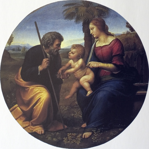 Holy Family with a Palm Tree tondo