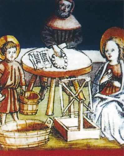 Jesus, Mary and Joseph at Work