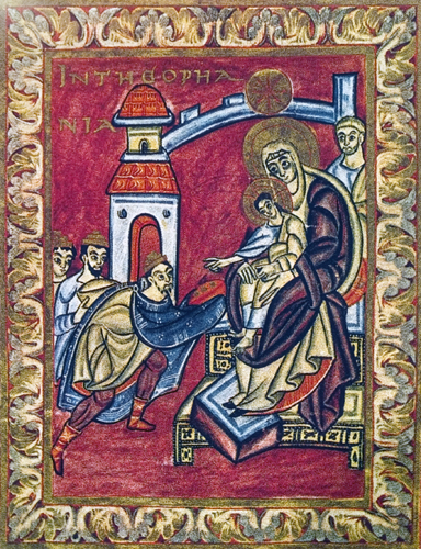 The Adoration of the Magi in the Poussay Gospel Book