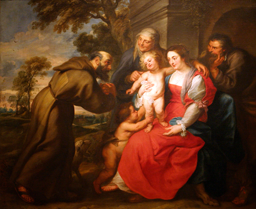Holy Family with St. Francis