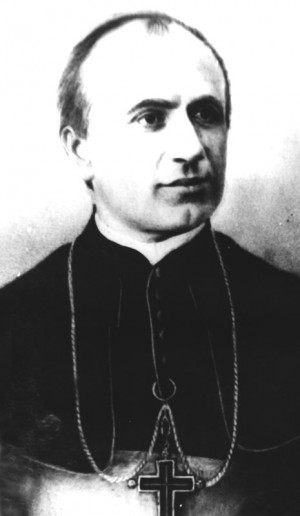 A charcoal of the young Bishop Marello.