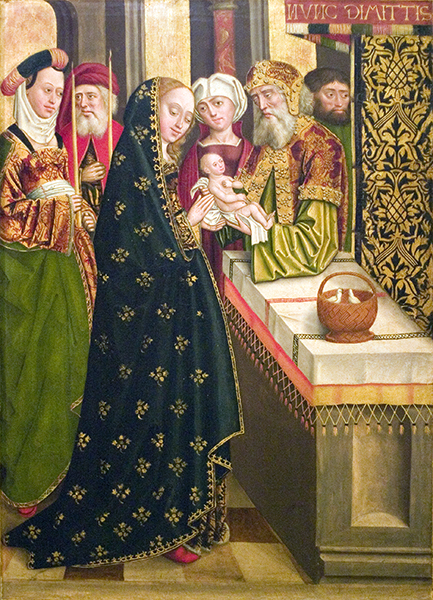 The Presentation of Jesus in the Temple, Hamburg Cathedral Polyptych of Life of Virgin