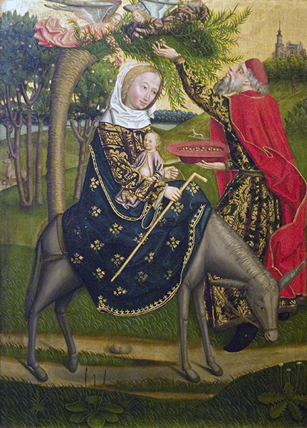 Flight Into Egypt and Miracle of Palm, Hamburg Cathedral Polyptych of Life of Virgin