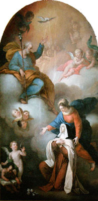 Triumph of St. Joseph with Mary Most Holy and St. Theresa of Avila