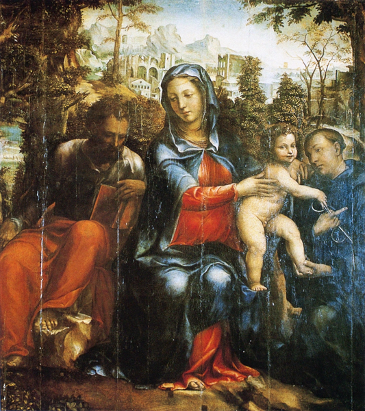 The Holy Family and St. Leonard