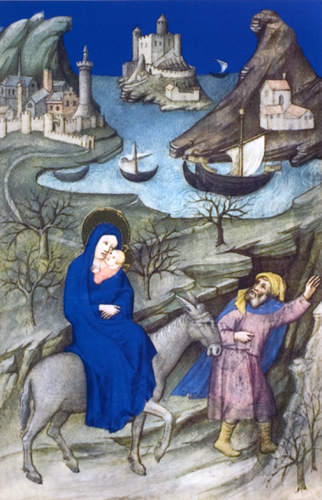 The Flight into Egypt In The Brussels Hours Book