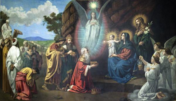 Magi and Angels Adore