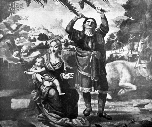 Miracles of Water and Palm Tree During Flight into Egypt