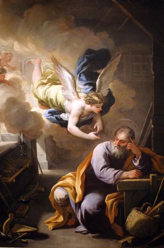 The Dream of St. Joseph (detail)