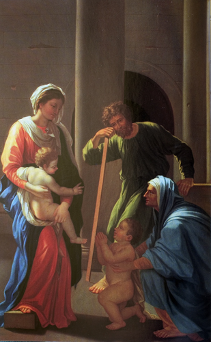 The Holy Family with Sts. Elizabeth and John (detail)