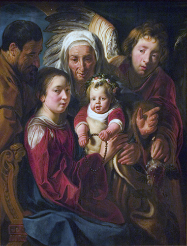 The Holy Family with St. Anne and Angel