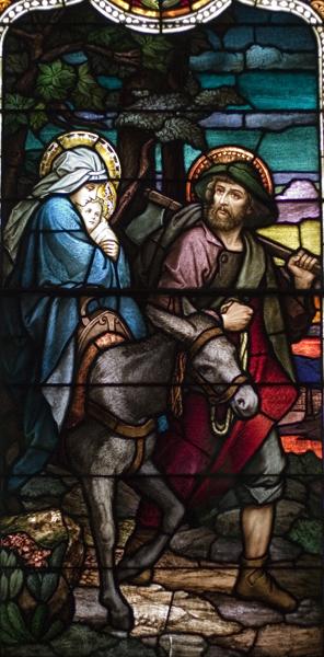 Life of St. Joseph, Window 7: The Flight into Egypt