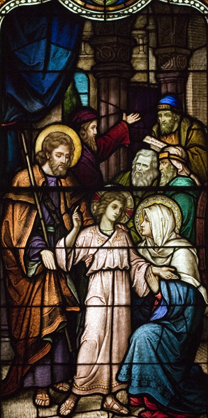 Life of St. Joseph, Window 8: The Finding in the Temple