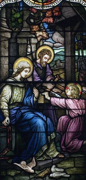 Life of St. Joseph, Window 9: Nazareth