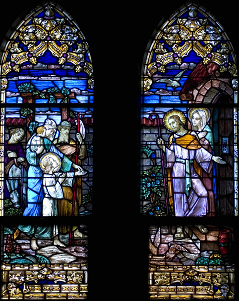 The Holy Family Welcomes Guests (Hospitality Windows)