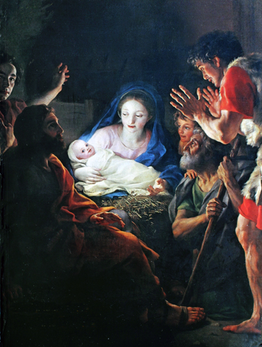 The Adoration of the Shepherds (detail)