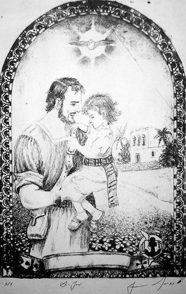 St. Joseph, Jesus and the Holy Spririt