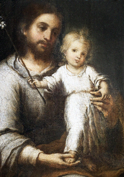 St. Joseph and Jesus (detail)