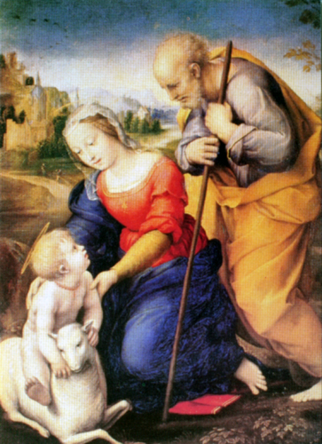 The Holy Family and the Lamb