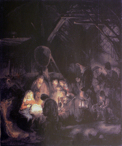 The Shepherds Worshipping the Child