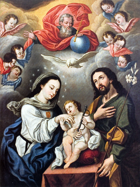 The Holy Family with Mercedarian Symbols
