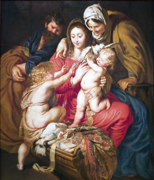 The Holy Family with Dove