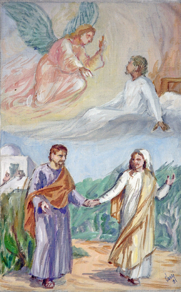 Joseph Happily Obeys Angel, Taking Mary His Wife