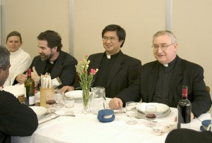 Sharing meals and the the ordinary events of the day are part of every Oblate's life.