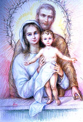 Holy Family with Thorns
